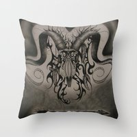 ram Throw Pillows featuring RAM by ERINN CALLA LYONS