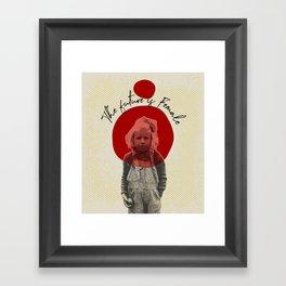 .The future is Female. Framed Art Print
