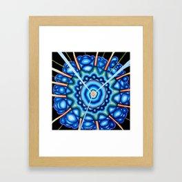 Blue Explosion - Andrew Kaminski Art - Acrylic Painting Framed Art Print