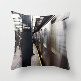 Wallstreet Subway Throw Pillow
