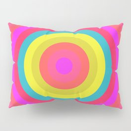 Pink Radial Pillow Sham
