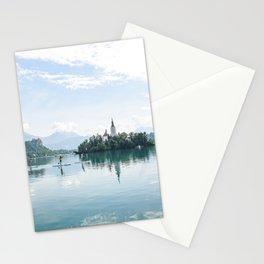 Paddle boarding on Lake Bled Stationery Cards