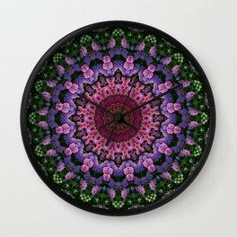 Hydrangea Kaleidoscope 2 Wall Clock