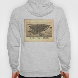 Vintage Pictorial Map of Key West FL (1884) Hoody