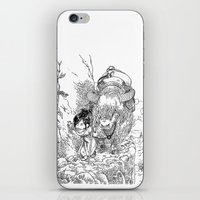 bouletcorp iPhone & iPod Skins featuring Promenade dans la montagne - Walking in the mountains by Bouletcorp