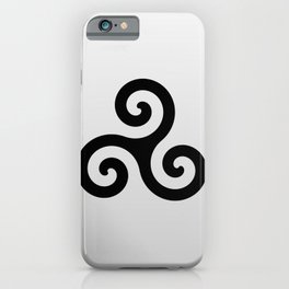 grey triskele iPhone Case