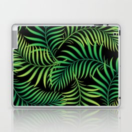 Night Jungle. Tropical Pattern / Palm leaves Laptop & iPad Skin
