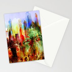 welcome to scary city Stationery Cards