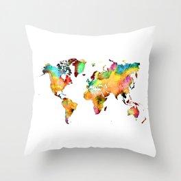 world map 71 Throw Pillow