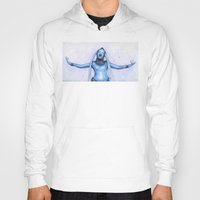 fifth element Hoodies featuring Diva Plavalaguna | Fifth Element Watercolor Art by Olechka
