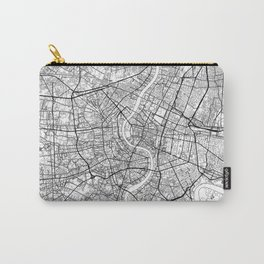 Bangkok Map White Carry-All Pouch
