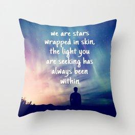 Stars Wrapped Throw Pillow
