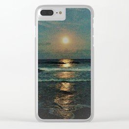 Reflecting moon rise Clear iPhone Case