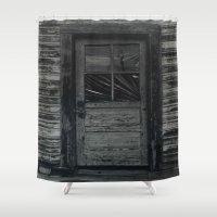 door Shower Curtains featuring DOOR by Patrick Takata