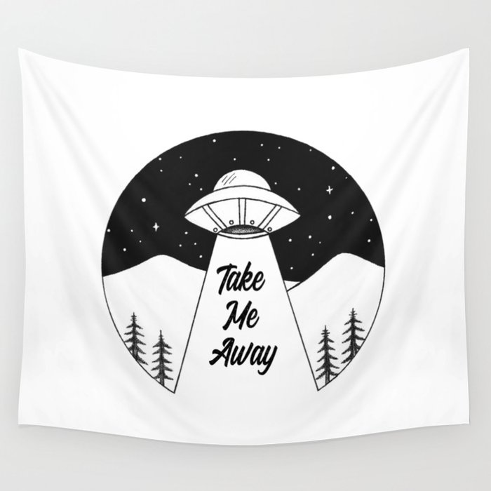 'Take Me Away' UFO Wall Tapestry