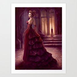 Don't Look Back - fantasy art Art Print