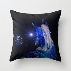 Alien cat Throw Pillow