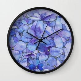 Watercolour Hydrangea Wall Clock