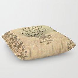 Shakespeare, Romeo and Juliet 1597 Floor Pillow