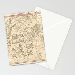 Burritt's Constellations (January, February, March) (1856) Stationery Cards