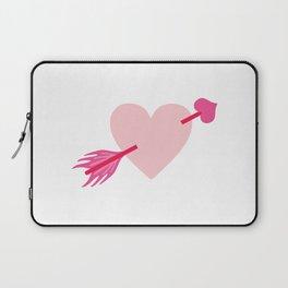 Arrow Through Heart Laptop Sleeve