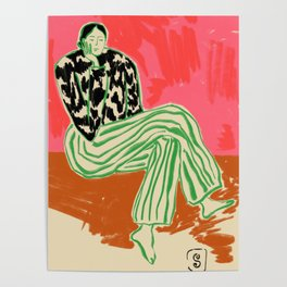CALM WOMAN PORTRAIT Poster