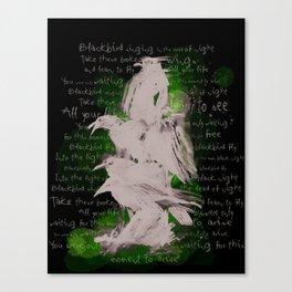BlackBird Fly  Canvas Print