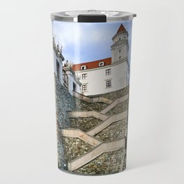 Stairs leading to Slovakian Castle Travel Mug