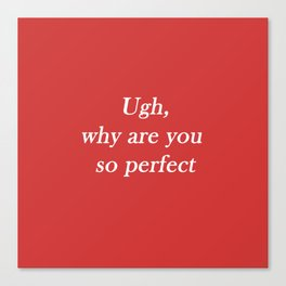 ugh: red Canvas Print