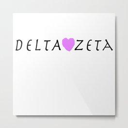 Delta Zeta  Metal Print