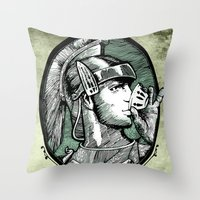 italian Throw Pillows featuring italian express by MR. VELA