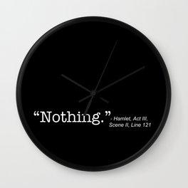 Hamlet Quote Shakespeare Wall Clock