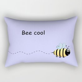 Cool cute bee cartoon pun Rectangular Pillow