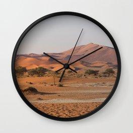 Desert textures - Sossusvlei desert, Namibia Wall Clock