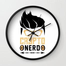 Crypto Nerd Bitcoin Wall Clock