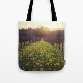 Vineyard Sunset Tote Bag