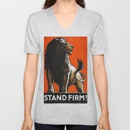 Stand Firm! Unisex V-Neck