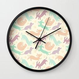 Pastel Dachshunds Wall Clock