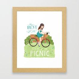 Bike to a Picnic Framed Art Print