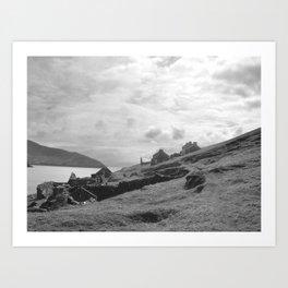 Abandoned Cottages on Blasket Islands Art Print