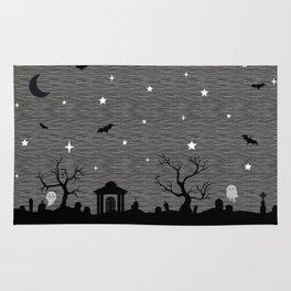 Spoopy Cemetery Print Rug