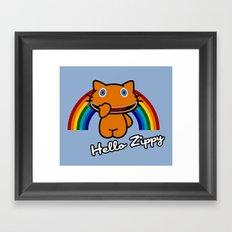Hello Zippy Framed Art Print
