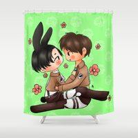 snk Shower Curtains featuring Bun by Sir-Snellby