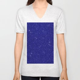 C13D Blue Glitter Unisex V-Neck