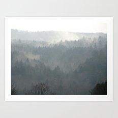 A Foggy Day Art Print
