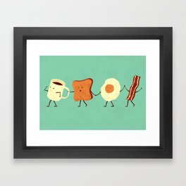 Let's All Go And Have Breakfast Framed Art Print