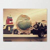 globe Canvas Prints featuring Globe by Lucy Hodkiewicz
