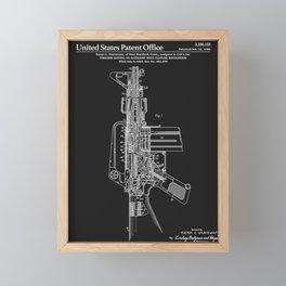 AR-15 Semi-Automatic Rifle Patent - Black Framed Mini Art Print