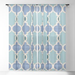 Hollywood Regency Trellis Pattern 633 Sheer Curtain