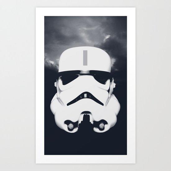 Lone Trooper Art Print